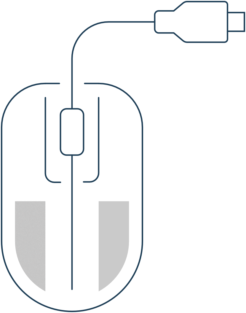 wired mouse icon